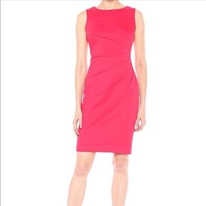 Calvin Klein NWOT Lipstick Scuba Sheath Dress